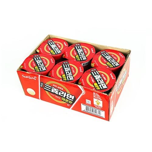 삼양 삼양라면 매운맛 컵 65g x 6입